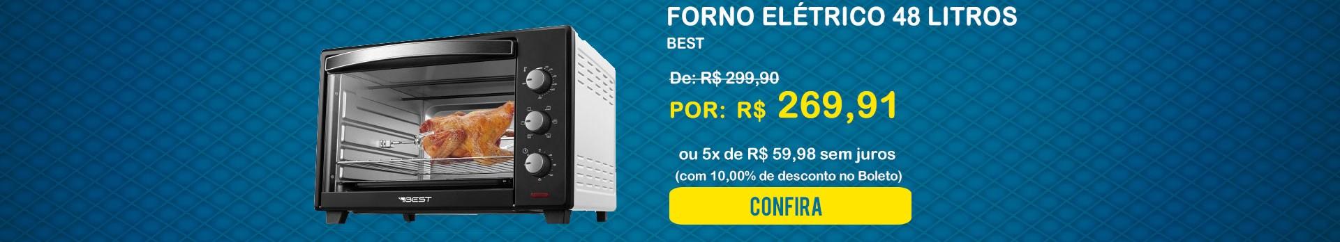 Forno Elétrico 48 Litros - Best