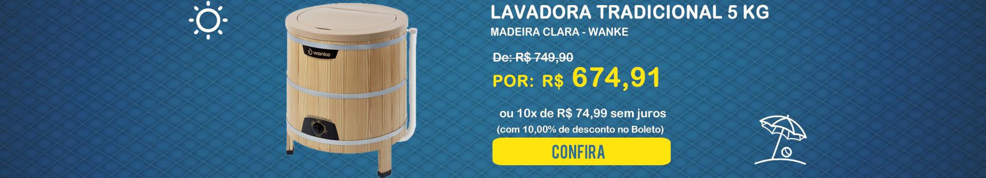 Lavadora Tradicional 5 kg Madeira Clara