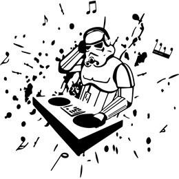 Adesivo  Decorativo   DJ Soldado Stormtroopers Star Wars (35x35cm)