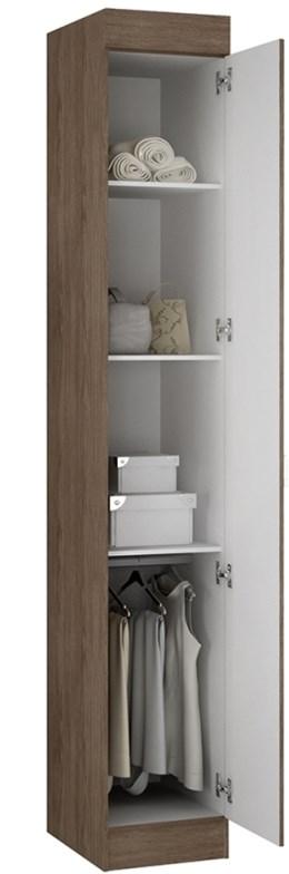 Armário 01 Porta Buri 35100 Castanho - Palmeira Móveis