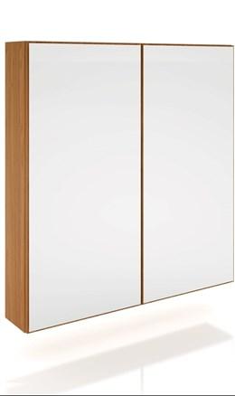 Armario 2 Portas Com Espelho e LED Freijo