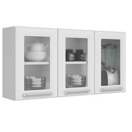 Armario Aéreo IPV3-105 3 Portas c/vidro - Branco
