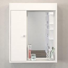 Armário Aereo Para Banheiro C/ Espelho - Politorno