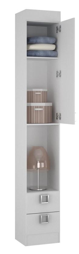 Armário criado buri 35112 Branco - Palmeira Móveis