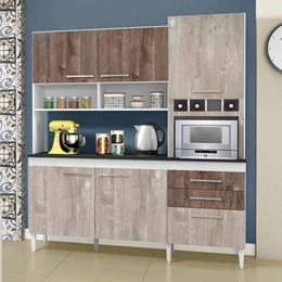 Armário de cozinha Ébano 6 portas Champanhe/Chocolate - CHF Móveis