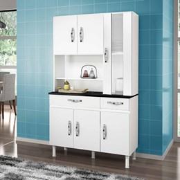 Armário de Cozinha Sampaio 6 Portas e 2 Gavetas Branco - CHF Móveis