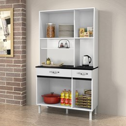 Armário de Cozinha Ventura 6 Portas e 2 Gavetas Branco - CHF Móveis