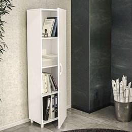 Armário Escritório Multiuso Girassol 1 Porta Branco - Politorno