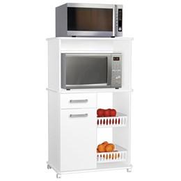 Armário Multiuso Premium 1 Porta 1 Gaveta 2 Fruteiras Branco - Zanzini