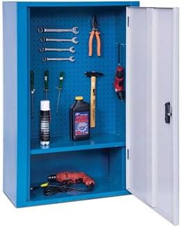 Armário organizador de ferramentas fechado com 1 prateleira