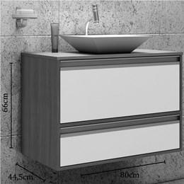 Armário Suspenso Para Banheiro Paris 80X66 - Mgm