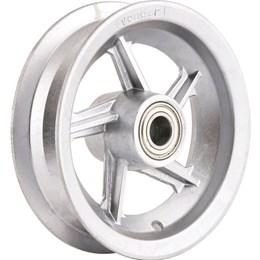 """Aro de alumínio 8"""" com rolamento para pneus 325 ou 350 Vonder Cinza"""