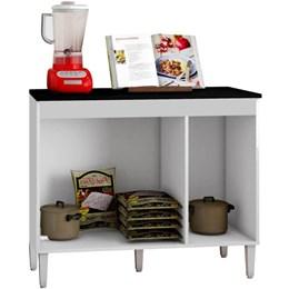 Balcão de Cozinha Livia 3 Portas Branco - CHF Móveis