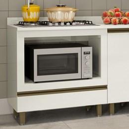 Balcao p/cooktop e forno 80cm 1 Gaveta Vitória K322 Off White Dalla Costa