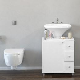 Balcão Para Banheiro 1 Porta 3 Gavetas - Politorno