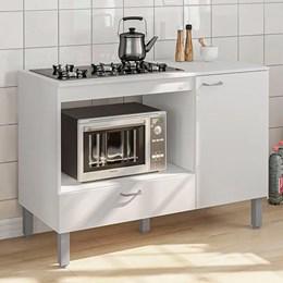 Balcão para forno e cooktop Salinas 1 porta 1 gaveta Branco Politorno