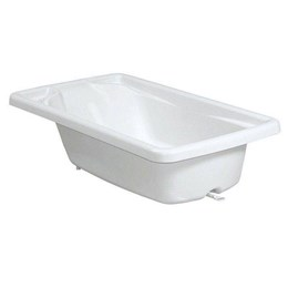 Banheira Rigida Branca Com Suporte Galzerano