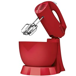 Batedeira Jolie Colors 3 Velocidades   Pulsar 1 Tigela 200W Vermelha Cadence