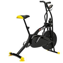 Bicicleta Ergométrica Kikos Bike Air A5  13 Preto e Amarelo