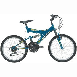 Bicicleta Full Suspension Kanguru Aro 20 Azul - Polimet