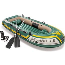 Bote Barco Inflável Seahawk 3 Com Remo Alumínio - Intex