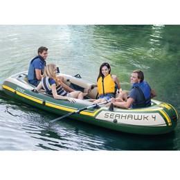 Bote Barco Inflável Seahawk 4 Com Remo Alumínio - Intex