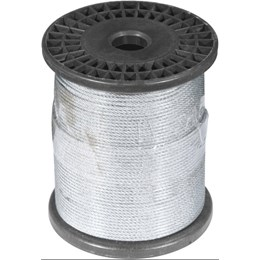 "Cabo de Aço Plastificado Alma de Fibra 1,6 mm 1/16""  6 x 7 - Vonder"