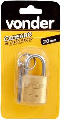 CADEADO DE LATAO MACICO 20MM VONDER