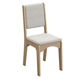 Cadeira 18mm Encosto e Assento Estofado Carvalho/Geométrico - Dalla Costa