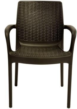 Cadeira Bali com Braço cor Chocolate ktr000398 Keter