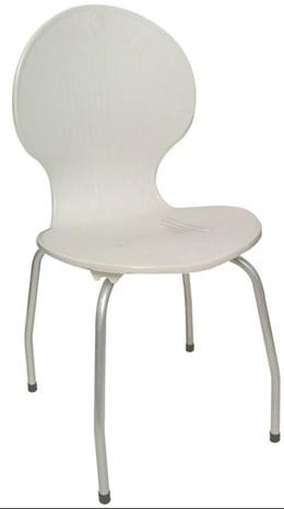Cadeira com pés de aço Itabira Branca - Antares