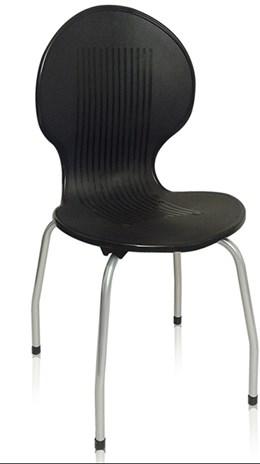 Cadeira com pés de aço Itabira Preta - Antares