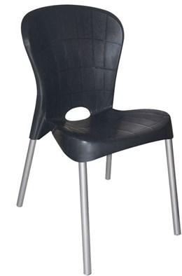 Cadeira com pés de aço Montes Claros Preta - Antares