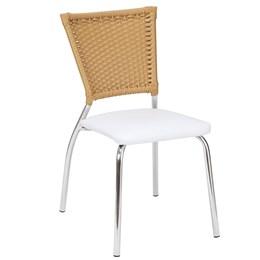 Cadeira De Alumínio C/ Fibra E Assento Courino - Alegro Moveis