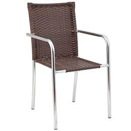Cadeira De Alumínio E Fibra  Castanho - Unidade - Alegro Moveis
