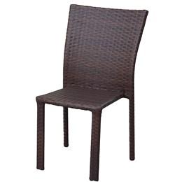 Cadeira De Alumínio E Fibra -  Tabaco - Alegro Moveis
