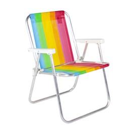 Cadeira de Praia Alta  Arco-íris Belfix