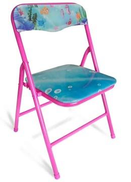 Cadeira dobrável Infantil aço rosa - Antares
