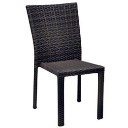 Cadeira em Alumínio rvestida em Fibra Sintética Café - Alegro Móveis