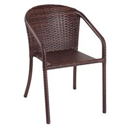Cadeira para Jardim  Alumínio Em Fibra - Castanho - Alegro Moveis