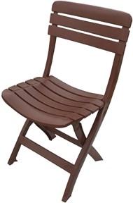 Cadeira Plástica Dobrável Ripada Marrom - Antares