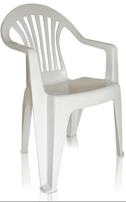 Cadeira Plástica Poltrona Suprema Unaí Branca - Antares