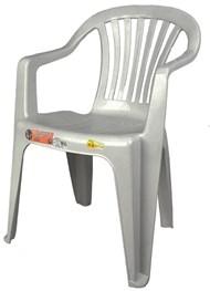 Cadeira Plástica Poltrona Vila Boa Vista Branca - Antares