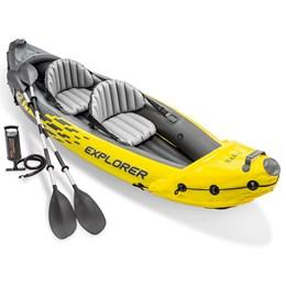Caiaque Inflável Explorer K2 Com Remos e Bomba - Intex
