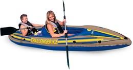 Caiaque K2 Challenger c/ remo e Sacola de Transporte 68306 Intex
