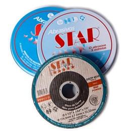 Caixa com 10 discos De Corte inox 4.1/2X1/8X7/8 Sca 202 Star