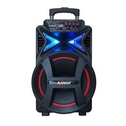 Caixa de Som Amplificada ACA 292 New Amvox Bluetooth Rádio FM Entradas Aux/Card/Usb 290W