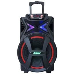Caixa de Som Amplificada ACA 501 New X Amvox 500w Bluetooth Rádio FM Entradas Aux/Card/Usb