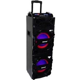 Caixa de Som Amplificada Portátil BLUETOOTH/MP3/RADIOFM/USB/SD/AUX ACA750 Turbo Bivolt 750w - Amvox