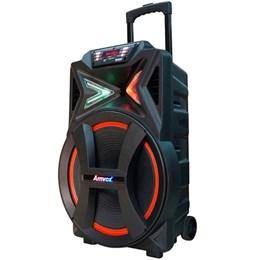 Caixa de Som Amplificada Portátil BLUETOOTH/USB/AUX/RADIOFM/SD New X ACA501 Bivolt 500w - Amvox